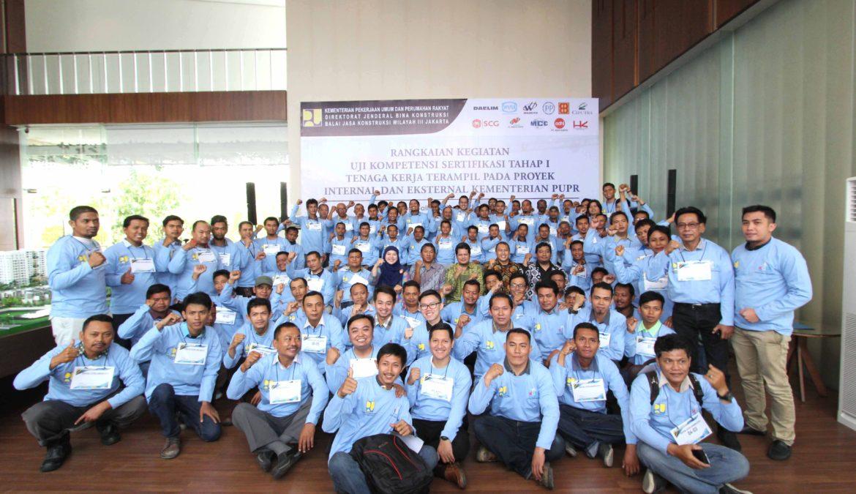 Rangkaian Kegiatan Uji Kompetensi Setifikasi Tahap 1 Tenaga Kerja Terampil pada Proyek Internal dan Eksternal Kementerian PUPR