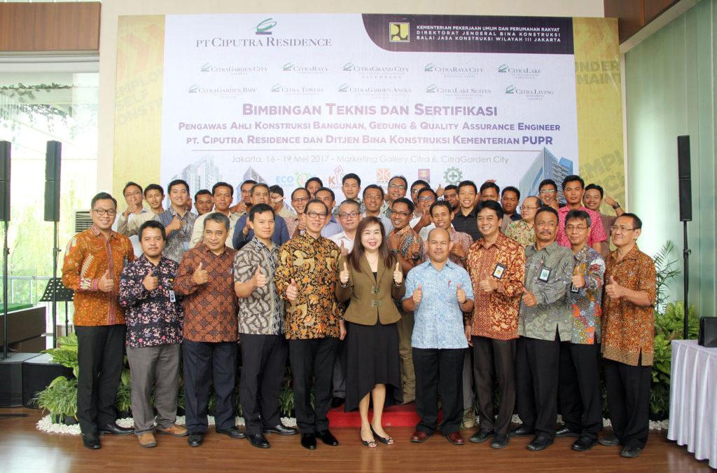 Opening Ceremony Bimbingan Teknis dan Sertifikasi PT. Ciputra Residence dan Kementrian PUPR